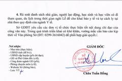 Sở GD-ĐT Sóc Trăng giải thích vụ học sinh ra khỏi tỉnh phải cách ly 14 ngày