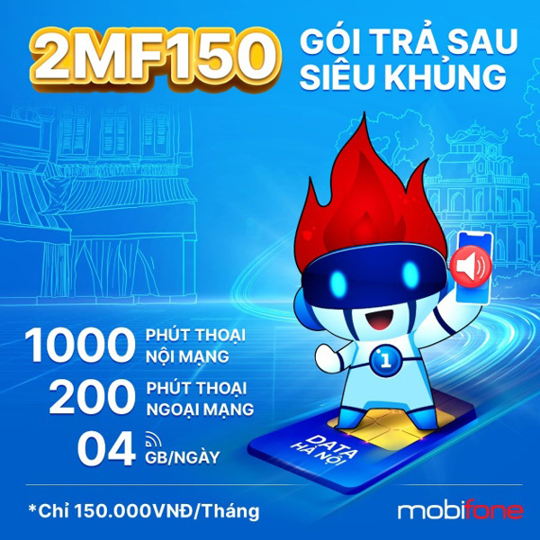 Trả sau cực đã, thoải mái data với 2MF150 của MobiFone