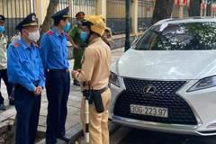Lái xe Lexus có biển ra vào Bộ Công an thách tổ liên ngành xử lý vi phạm
