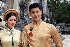 Lệ Quyên và tình trẻ Lâm Bảo Châu chụp ảnh áo dài cùng nhau
