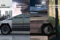 Bốn phiên bản xe quân sự của mẫu bán tải Tesla Cybertruck