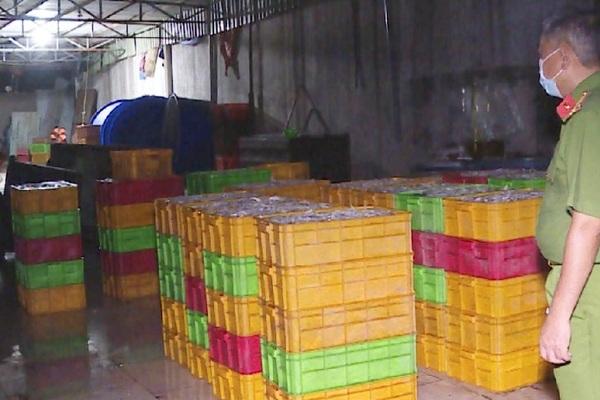 Bắt quả tang cơ sở chế biến cá khô bằng hóa chất độc hại