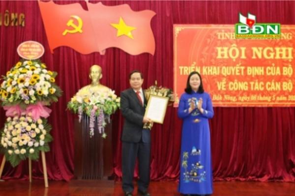 Ông Điểu K'Ré được điều động làm Phó bí thư tỉnh ủy Đắk Nông