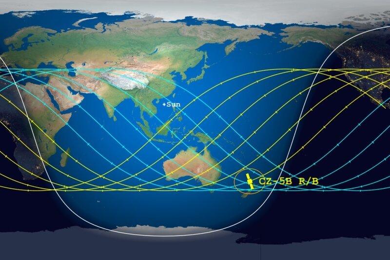 Tên lửa khổng lồ của Trung Quốc rơi xuống Trái Đất trong ngày 9/5