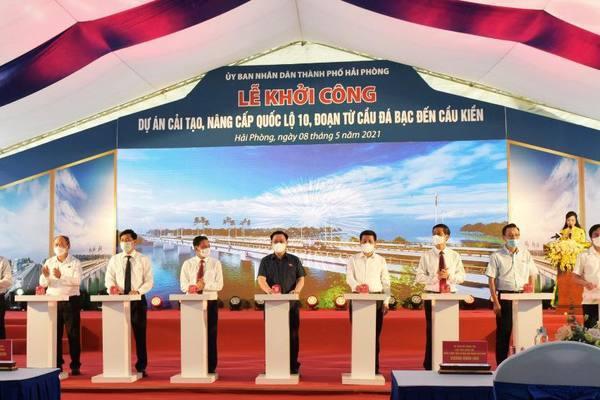 Chủ tịch Quốc hội dự lễ khởi công Dự án cải tạo, nâng cấp QL10