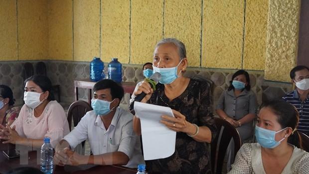 Ứng cử viên đại biểu Quốc hội tiếp xúc cử tri tại Tây Ninh