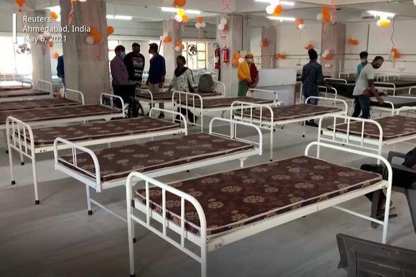 Ấn Độ 'biến' đền thờ thành bệnh viện điều trị Covid-19
