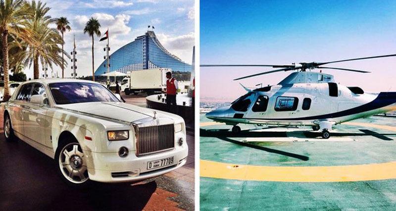 Khách sạn 7 sao dát vàng, di chuyển bằng trực thăng duy nhất trên thế giới