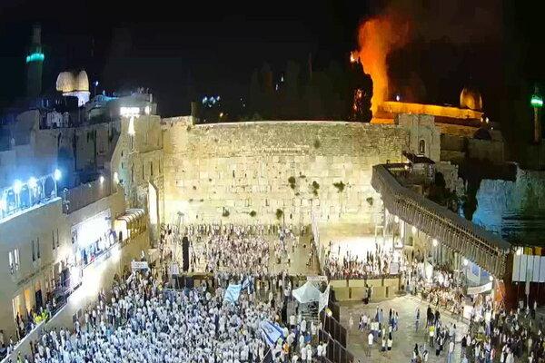 Căng thẳng Israel-Palestine leo thang, thánh địa ở Jerusalem gặp hỏa hoạn