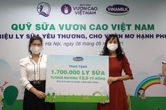Quỹ sữa Vươn cao Việt Nam 2021 dành 1,7 triệu ly sữa cho trẻ em khó khăn