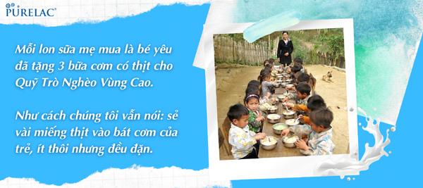 Mua 1 hộp sữa, góp 3 bữa cơm có thịt cho trẻ vùng cao