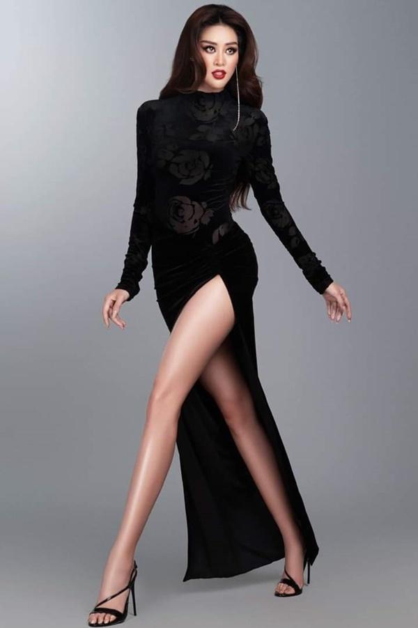 Khánh Vân mặc váy 'ruộng bậc thang', hoa hậu Indonesia gây sốc ở Miss Universe
