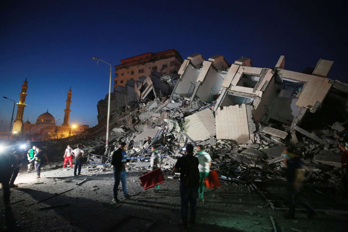 Cảnh tan hoang sau màn ăn miếng trả miếng Israel - Hamas