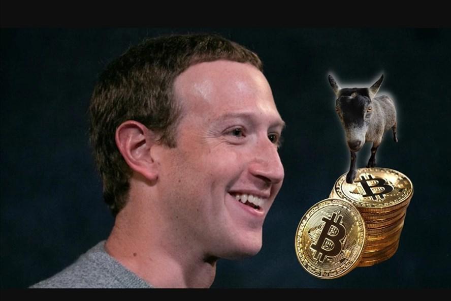 Tỉ phú Mark Zuckerberg và chú dê Bitcoin gây sốt giới đầu tư tiền ảo