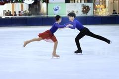 Brother-sister pair wins Asian championship in skating
