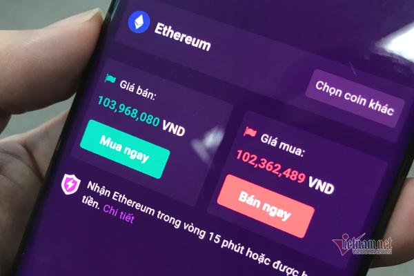 Giá Ethereum tại Việt Nam đạt mốc 100 triệu, gấp 20 lần chỉ sau 1 năm