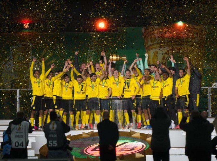 Sancho, Haaland giúp Dortmund vô địch Cúp quốc gia Đức