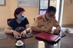 Phạt 17 triệu đồng nữ tài xế đi lùi trên cao tốc Hà Nội - Thái Nguyên