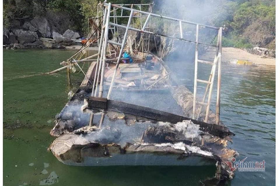 Trao hơn 24 triệu đồng đến 3 anh em bỏng nặng do cháy tàu trên biển