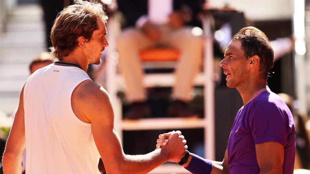 Hạ đẹp Zverev, Nadal thẳng tiến bán kết Rome Masters