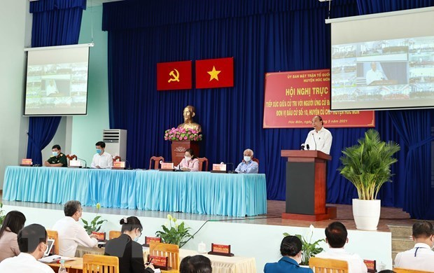 President Nguyen Xuan Phuc,meeting with voters,elections