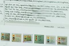 Hacker xóa dấu vết, gỡ dữ liệu cá nhân rao bán 200 triệu