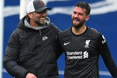 HLV Klopp và Liverpool phát cuồng với bàn thắng của Alisson