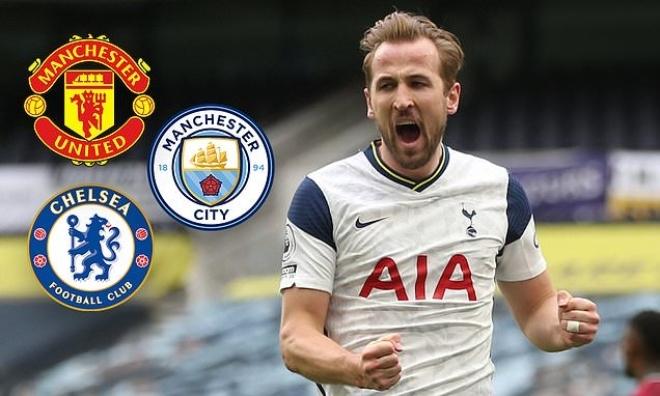 Harry Kane yêu cầu rời Tottenham, MU đua ký Man City và Chelsea