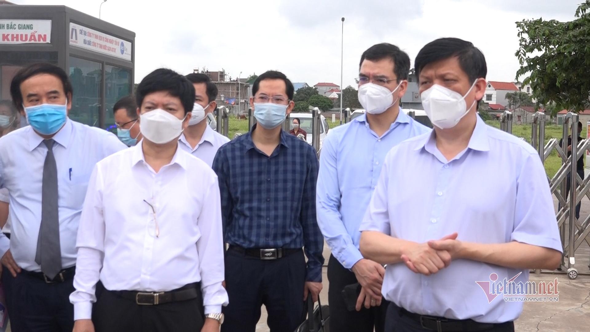 Bộ Y tế sẽ hỗ trợ Bắc Giang điều trị tại chỗ các ca bệnh Covid-19 nặng