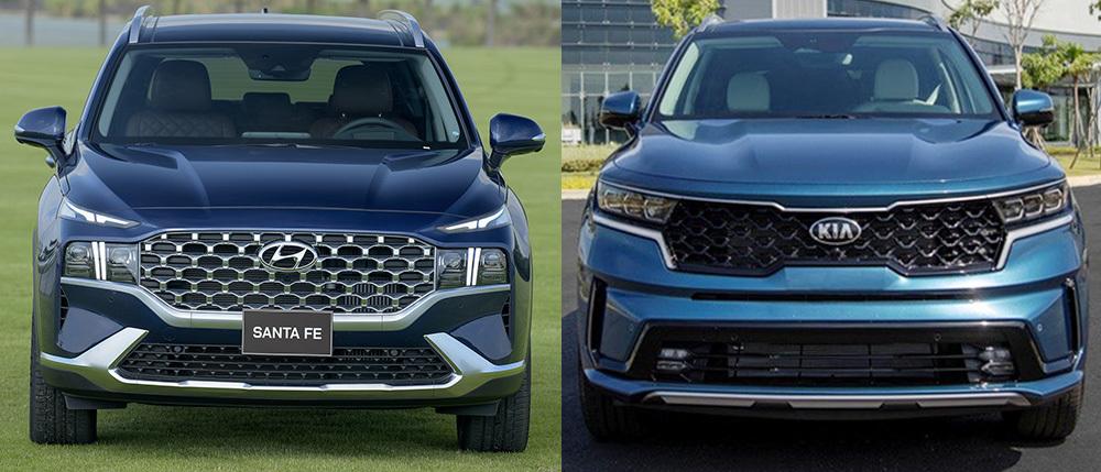 Giá 1,3 tỷ đồng, chọn Hyundai SantaFe 2021 hay KIA Sorento?