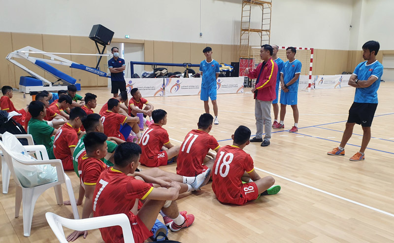 Tuyển futsal Việt Nam luyện 'tuyệt chiêu' chờ quyết đấu Lebanon