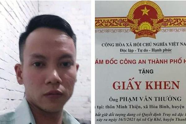 Tướng Nguyễn Hải Trung khen thưởng người trói tên cướp