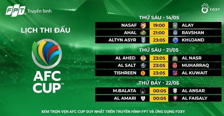 Lịch thi đấu AFC Cup 2021: Hà Nội, Sài Gòn quyết tiến xa