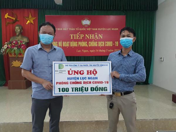 Đại Phước Group ủng hộ tiền mặt, khẩu trang hỗ trợ Bắc Giang chống dịch