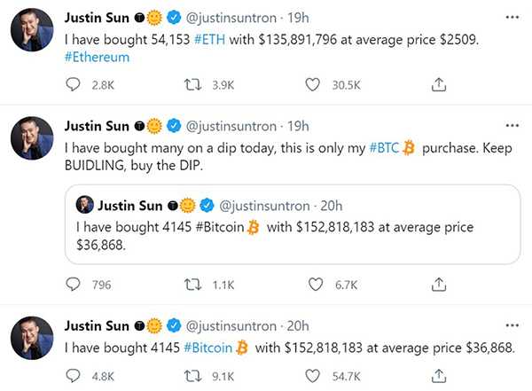 Giá Bitcoin bật mạnh, trở lại mốc 42.000 USD sau 24 giờ chao đảo