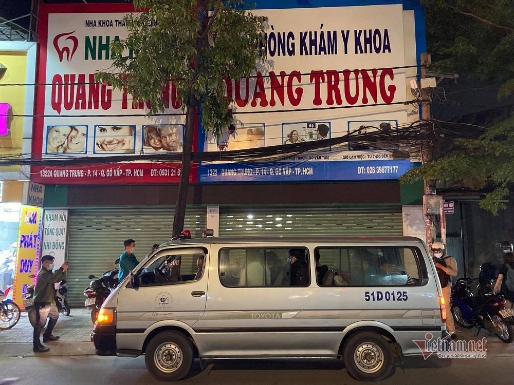 Tạm dừng hoạt động phòng khám Y khoa ở quận Gò Vấp, đưa 11 người đi cách ly