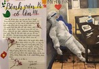Xúc động bức thư của bé gái gửi bố mẹ đang cách ly tại Bệnh viện K Tân Triều
