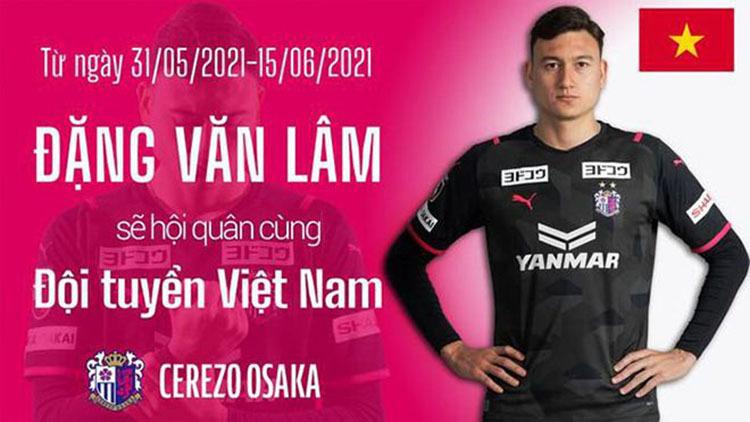 Thực hư Đặng Văn Lâm không được về tuyển Việt Nam sớm