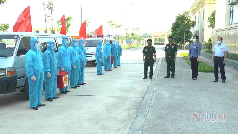 Hình ảnh xúc động trong khu cách ly Bắc Ninh ngày bầu cử sớm