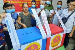 Nhiều tỉnh, thành có tỷ lệ cử tri đi bầu đạt trên 90%