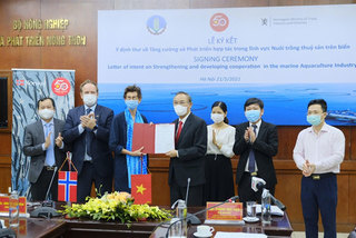 VN, Norway sign Letter of Intent on marine aquaculture co-operation