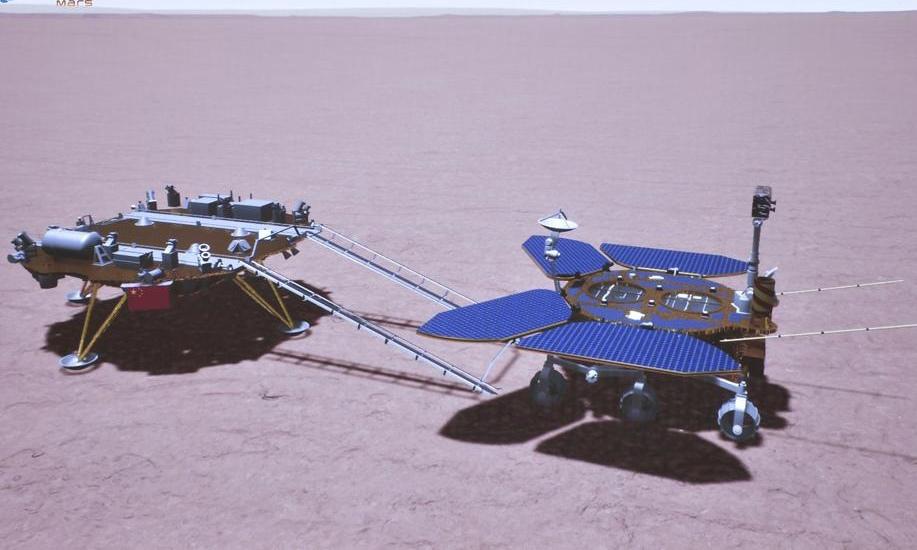 Tàu thăm dò Trung Quốc lăn bánh trên bề mặt Hỏa tinh