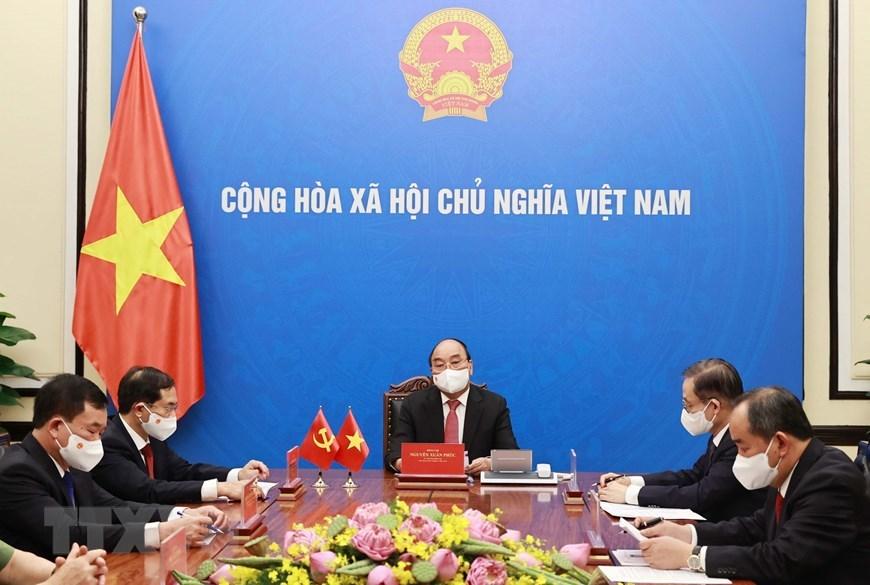 Chủ tịch nước điện đàm với Tổng Bí thư, Chủ tịch nước Trung Quốc