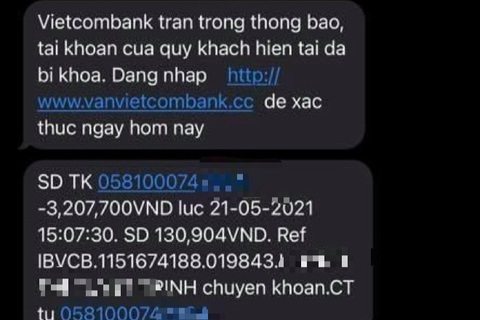 Người dân tiếp tục mất tiền vì trò lừa mạo danh tin nhắn ngân hàng