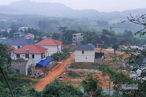 Những ngôi biệt thự trên đất rừng ở Vĩnh Phúc