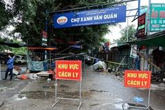 Phong tỏa tạm thời chợ Xanh Văn Quán, Hà Đông