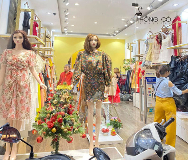 Nhiều items thời trang hiện đại và trang nhã ở Hồng Cò Boutique