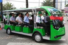 Thí điểm 3 tuyến xe điện phục vụ khách du lịch ở Cần Giờ