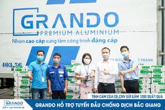 Grando tặng 1.200 lốc sữa cho tuyến đầu chống dịch ở Bắc Giang