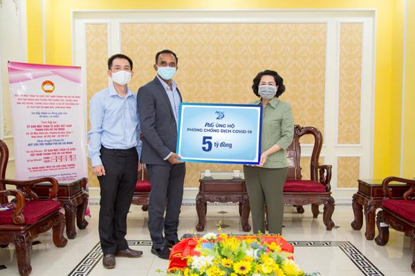 P&G Việt Nam tiếp tục tài trợ tuyến đầu chống dịch và khu cách ly